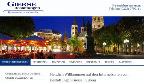 Firmenprofil von: Bestattungsinstitut Gierse in Bonn