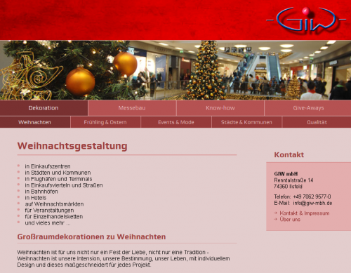 Firmenprofil von: GIW Gesellschaft für Verkaufsförderung und Dekoration der Industrie und Wirtschaft mbH in Ilsfeld