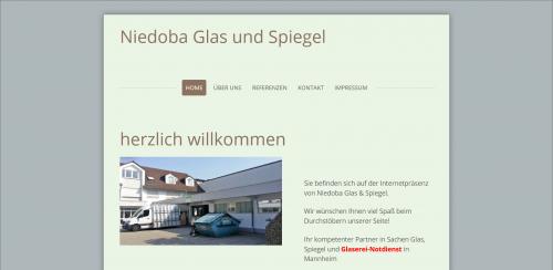 Firmenprofil von: Die Glaserei in Mannheim: Niedoba Glas & Spiegel