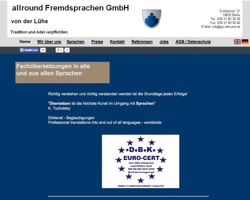 Firmenprofil von: allround Fremdsprachen von der Lühe Berlin -  Übersetzungen in alle und aus allen Sprachen