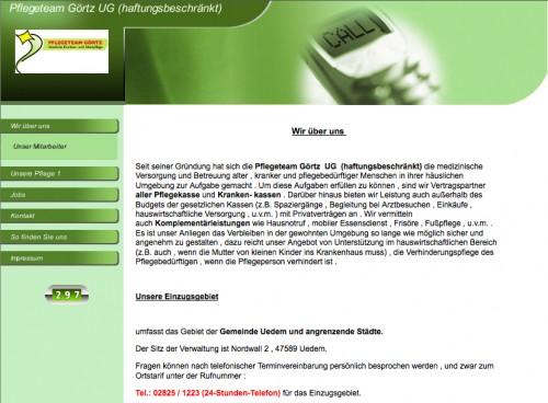 Firmenprofil von: Pflegeteam Görtz UG in Uedem