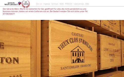 Firmenprofil von: Gérards Weinmarkt: Französischer Wein in Düsseldorf