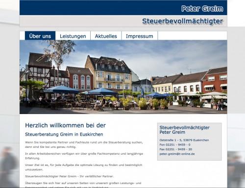 Firmenprofil von: Steuerbevollmächtigter Peter Greim in Euskirchen  Langjährige Erfahrung und Fachkompetenz
