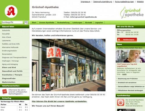 Firmenprofil von: Die Grünhof-Apotheke in Frankfurt