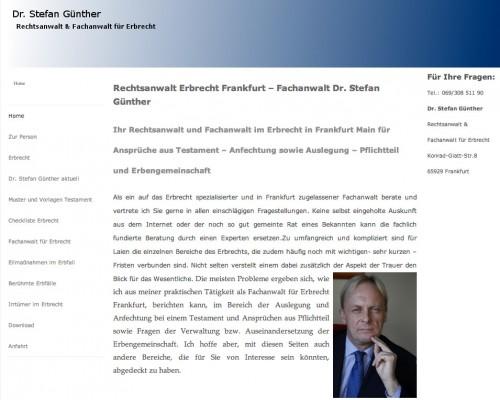 Firmenprofil von: Dr. Stefan Günther, Rechtsanwalt & Fachanwalt für Erbrecht in Frankfurt