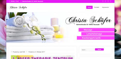 Firmenprofil von: Wohltuende Massagen in Neustadt: Krankengymnastik Christa Schäfer