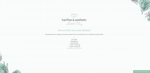 Firmenprofil von: Hairfree & aesthetic - Institut Coburg