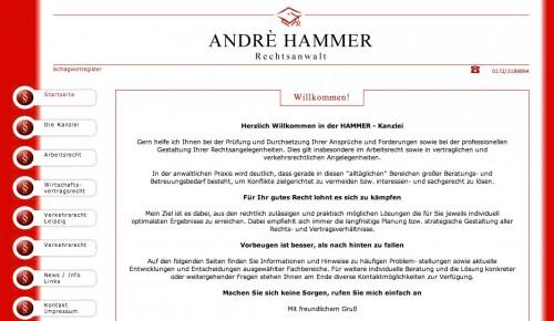 Firmenprofil von: Andrè Hammer, Rechtsanwalt in Leipzig