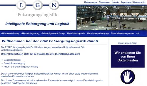 Firmenprofil von: Intelligente Aktenvernichtung: EGN Entsorgungslogistik GmbH in Bokholt-Hanredder