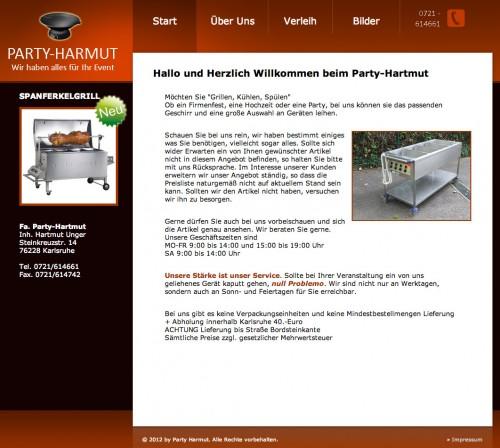 Firmenprofil von: Party-Hartmut in Karlsruhe