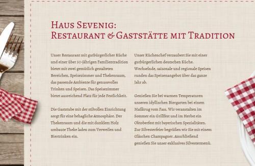 Firmenprofil von: Haus Sevenig: Restaurant und Gaststätte in Alsdorf