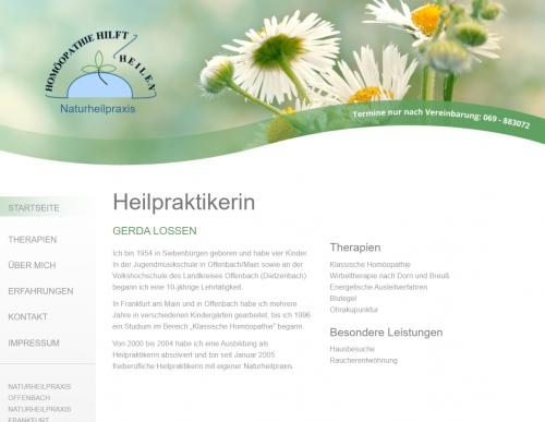 Firmenprofil von: Vertrauensvolle Homöopathie in Offenbach – Gerda Lossen