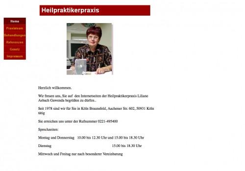 Firmenprofil von: Heilpraktikerin Liliane Asbach-Gawenda in Köln