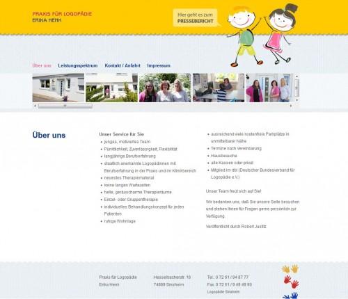 Firmenprofil von: Sprechstörungen in Sinsheim: Praxis für Logopädie Erika Henk