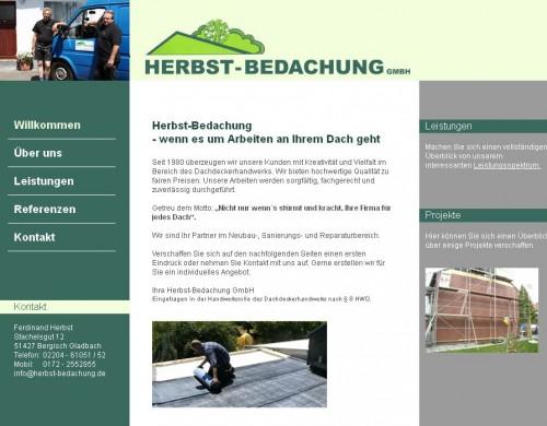 Firmenprofil von: Herbst-Bedachung GmbH in Bergisch Gladbach