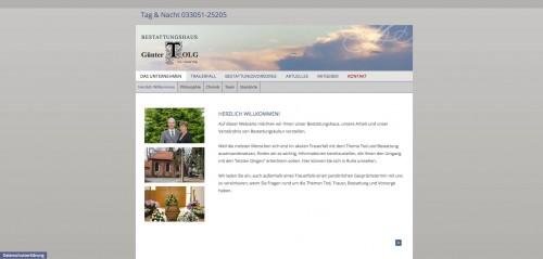 Firmenprofil von:  Umfassende Bestattungsvorsorge: Bestattungshaus Günter Tolg in Oranienburg