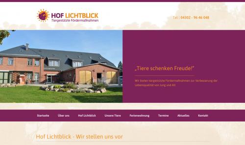 Firmenprofil von: Tiergestützte Fördermaßnahme - Hof Lichtblick in Nettelsee