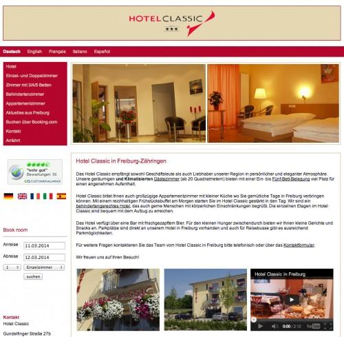 Firmenprofil von: Das Hotel Classic in Freiburg
