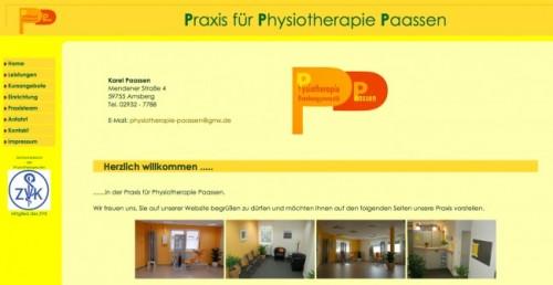 Firmenprofil von: Praxis für Physiotherapie Paassen in Arnsberg