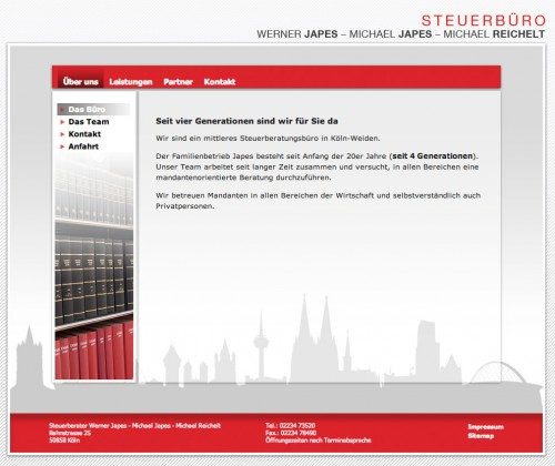 Firmenprofil von: Steuerberater Werner Japes - Michael Japes - Michael Reichelt in Köln  Kompetenz von vier Generationen