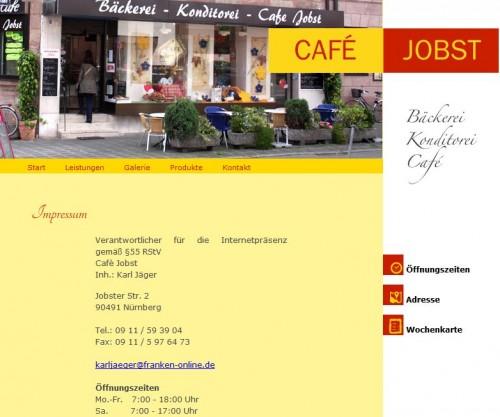 Firmenprofil von: Bäckerei – Konditorei - Café Jobst in Nürnberg