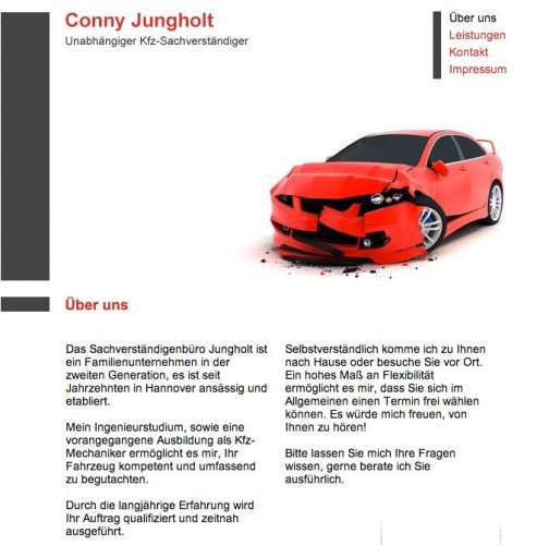 Firmenprofil von: Kfz-Sachverständigenbüro Conny Jungholt in Hannover