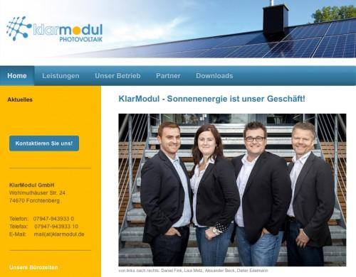 Firmenprofil von: KlarModul GmbH in Forchtenberg
