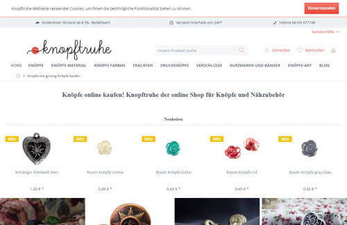 Firmenprofil von: Günstig online Knöpfe kaufen auf knopftruhe.de
