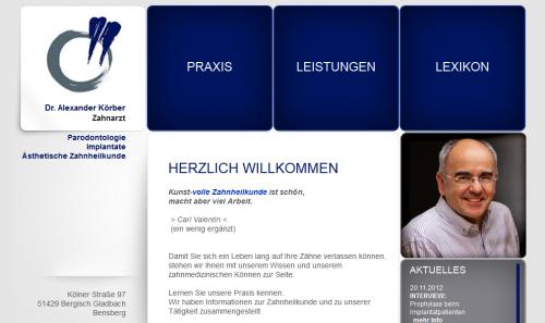 Firmenprofil von: Zahnarzt Dr. Alexander Körber in Bergisch Gladbach