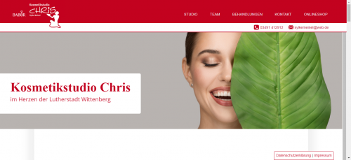 Firmenprofil von: Für Ihr Wohlbefinden: Kosmetikstudio Chris in Lutherstadt Wittenberg