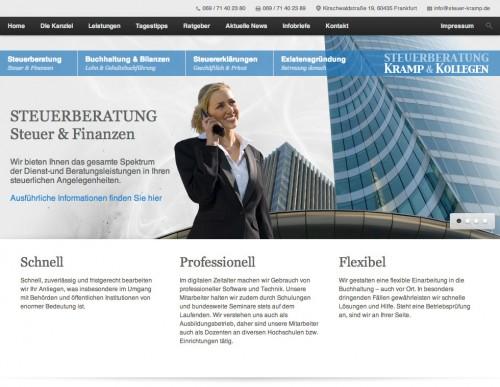 Firmenprofil von: Steuerberatungskanzlei Kramp und Kollegen in Frankfurt
