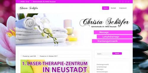 Firmenprofil von: Schmerzfrei leben dank effektiver Krankengymnastik: Christa Schäfer aus Neustadt