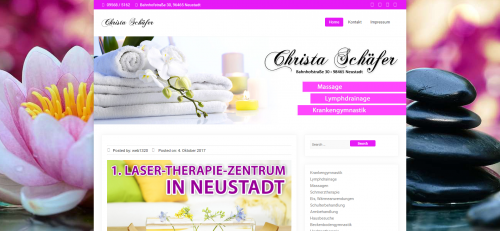 Firmenprofil von: Effektive Schmerztherapie in Neustadt von Christa Schäfer