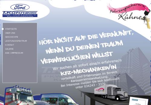 Firmenprofil von: Fahrzeuglackiererei Tilo Kühne GmbH in Lutherstadt-Wittenberg und Bad Düben