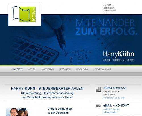 Firmenprofil von: Steuerberatung durch Harry Kühn in Aalen