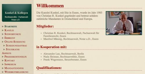 Firmenprofil von: Kunkel & Kollegen, Rechtsanwaltskanzlei in Essen