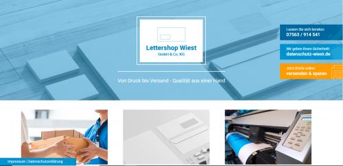 Firmenprofil von: Postsendung schnell und einfach online abwickeln – Lettershop Wiest