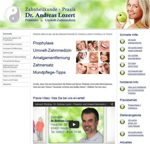 Firmenprofil von: Zahnarztpraxis Dr. Andreas Lozert in Weiding