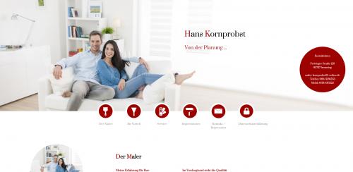 Firmenprofil von: Professionelle Malerarbeiten in Ismaning: Malerbetrieb Hans Kornprobst
