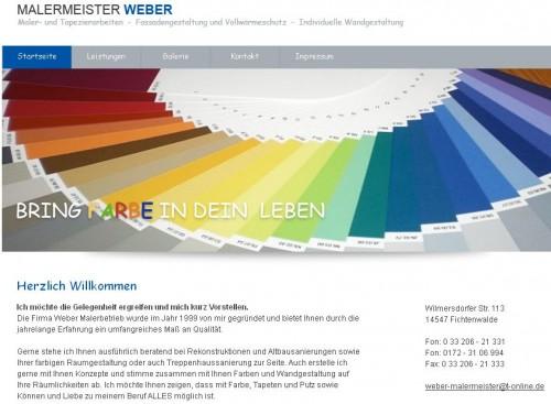Firmenprofil von: Malermeister Weber in Fichtenwalde