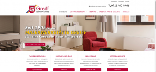 Firmenprofil von: Ihr Partner rund um Malerarbeiten in Stuttgart: Malerwerkstätte Greiff