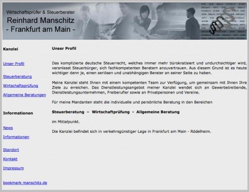 Firmenprofil von: Reinhard Manschitz Wirtschaftsprüfer und Steuerberater in Frankfurt am Main