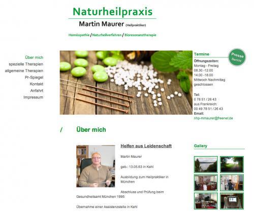 Firmenprofil von: Naturheilpraxis Martin Maurer in Kehl