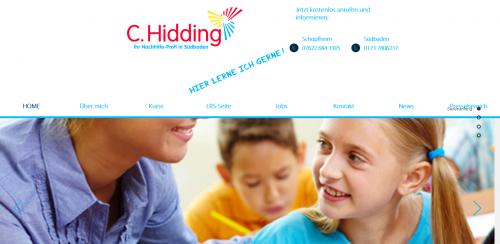 Firmenprofil von: C. Hidding: Ihr Nachhilfe-Profi in Südbaden