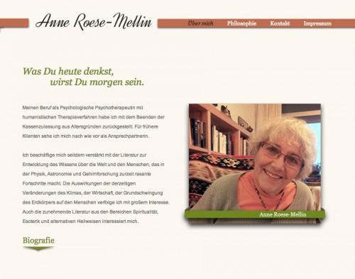 Firmenprofil von: Dipl.-Psych. Anne Roese-Mellin – was Du heute denkst, wirst Du morgen sein