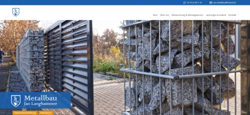 Firmenprofil von: Metallbau Jan Langhammer in Plauen