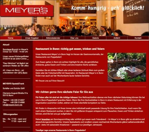 Firmenprofil von: MEYER'S Speis & Trank in Bonn