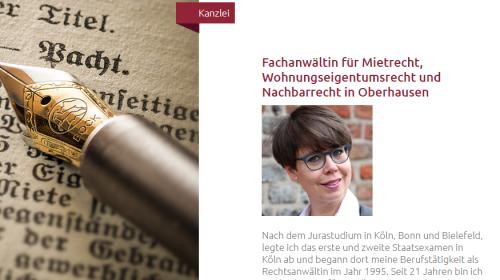 Firmenprofil von: Rechtsanwältin Verena Graf-van Geldern: Die Expertin für Mietrecht, Wohnungseigentumsrecht und Nachbarrecht in Oberhausen