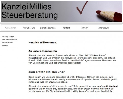 Firmenprofil von: Steuerberatung Kanzlei Millies - Parchim