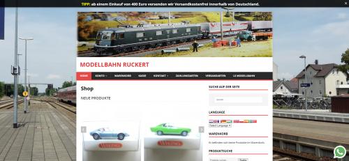 Firmenprofil von: Modellbahn Ruckert: Ihr zugkräftiger Ansprechpartner